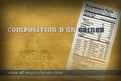 Composition d'un gainer