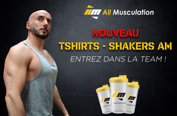 Shaker et T-shirt All-musculation