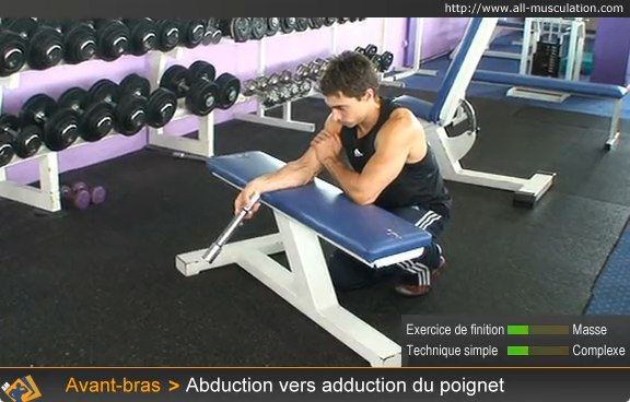 Début de l'exercice : abduction vers adduction