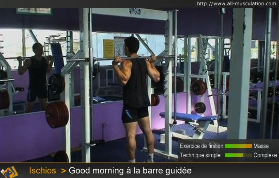 Début de l'exercice : good morning barre guidée