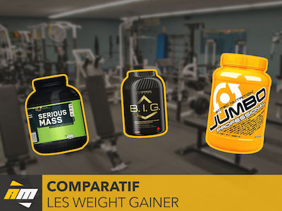 Tableau comparatif des weight gainer