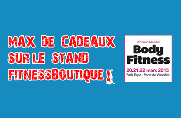 Cadeaux et goodies sur le stand fitnessboutique for Salon body fitness