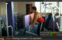 Rowing T-barre supination