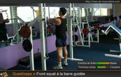 Front squat à la barre guidée