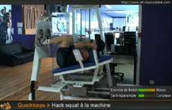 Hack-squat à la machine