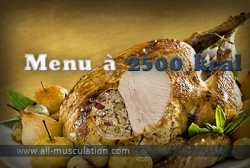 Alimentation prise de masse : menu à 2500 Kcal