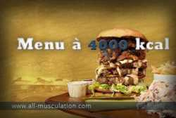 Alimentation prise de masse : menu à 4000 Kcal