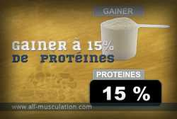 Définition : weight gainer à 15% de protéines