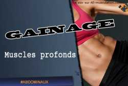 Gainage et musculation des muscles profonds