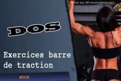 Exercices de dos a la barre de traction