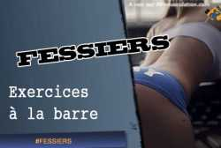Exercices de fessiers a la barre