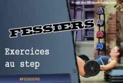 Exercices de fessiers au step / stepper
