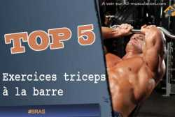 Exercices de triceps a la barre