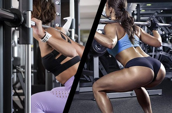 Squat barre libre VS smith machine