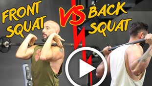 Front Squat VS Back Squat !
