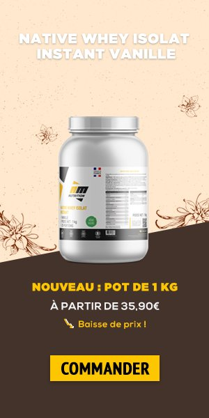 Native Whey Isolat Instant Vanille 1kg AMN