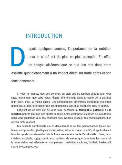 Nutrition de la force, introduction