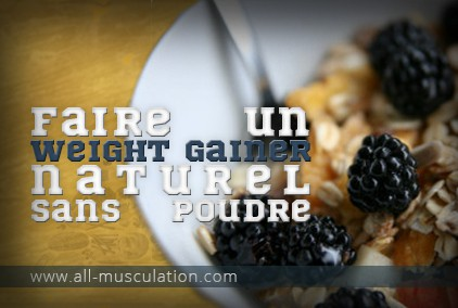 Weight gainer sans poudre