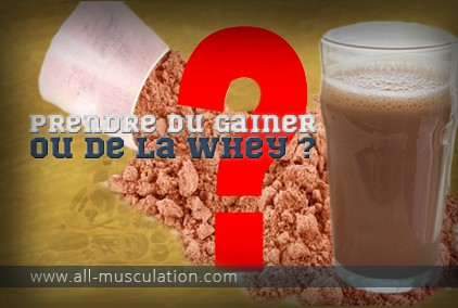 Whey ou gainer