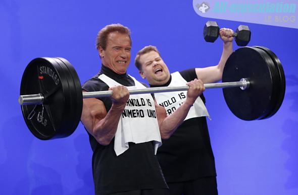 Arnold dans The Late Late Show